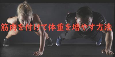 筋肉で体重を増やす